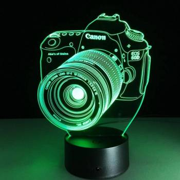 3 d светильник фотоаппарат canon