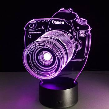 3d светильник фотоаппарат canon